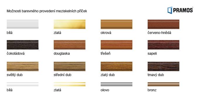 Die Farben der Zwischenglassprossen